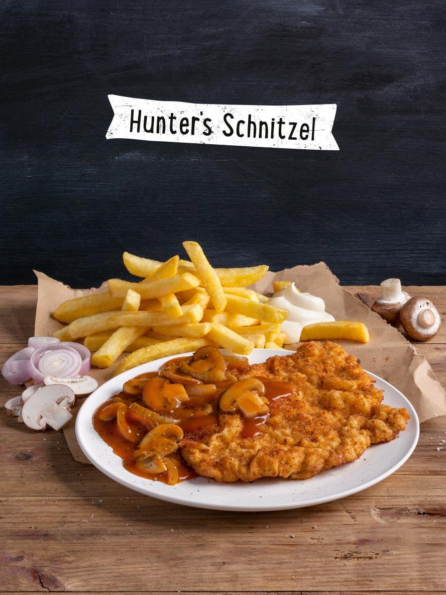 Jägerschnitzel Menü
